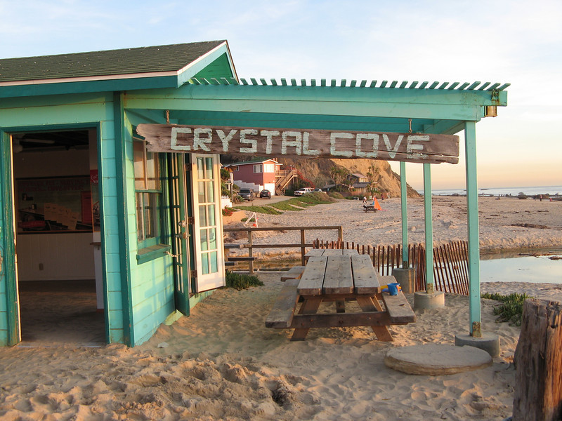 After a driving tour of main street Laguna Beach, Barb took us to Crystal Cove State Park.
