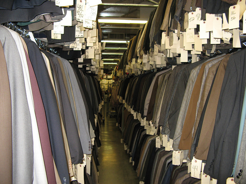 From WB we went to the Universal lot and took at look through the costume house.  Once again, everything imaginable from suits