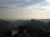 Hazy view from up near the Hollywood sign