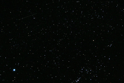 More of our night sky.   I seem to've caught a shooting star in the upper left.