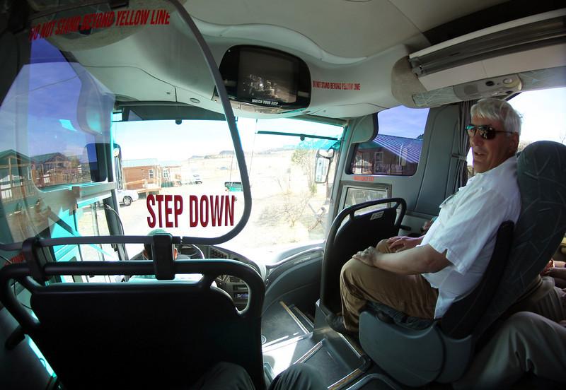 We reach Ft. Davis and meet our tour guide, Darren Wallis