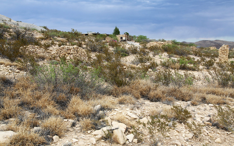 We settle into Lajita, then drive off to Terlingua.  Much of the town is abandoned mercury mines.