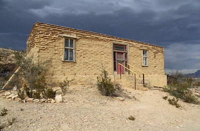 A building on the hill overlooking Terlingua