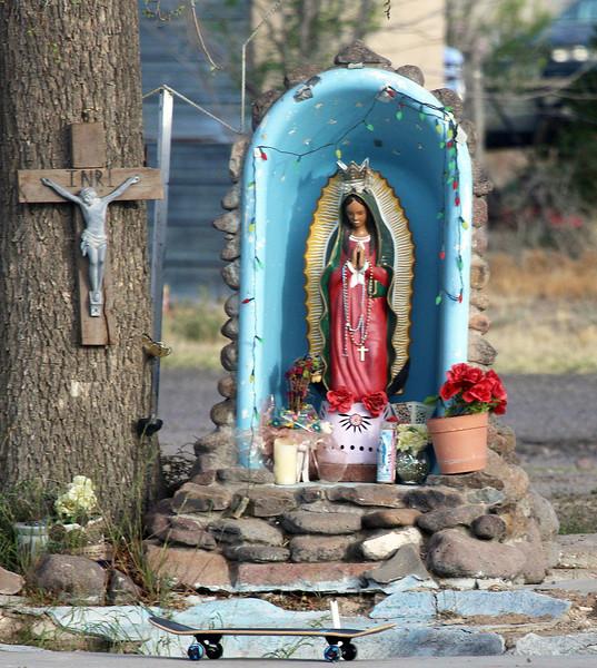 A roadside shrine in Marfa