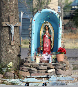 A roadside shrine in Marfa