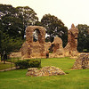 Bury St Edmunds, Ruins of The Old Abbey , sep 1971