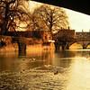 Cambridge, UK, mar 1971. The River Cam