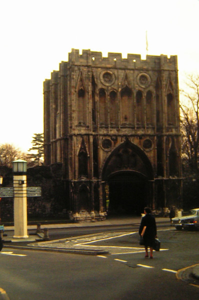 Bury St Edmunds, The Old Abbey Gate, sep 1971