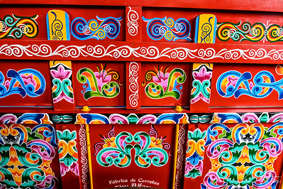Hand painted ox cart