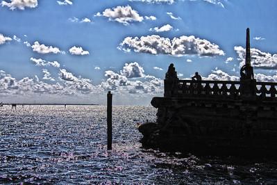 Barge overlooking Biscayne Bay