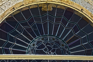 Stained glass on the Enclosed Loggia of the Main House