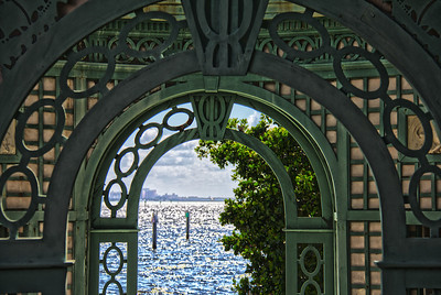 View from Tea House over Biscayne Bay