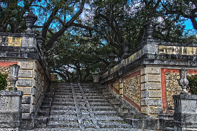 Stairs from Fountain Garden to Garden Mound