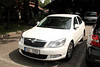 Our rental car, a Skoda Octavia.