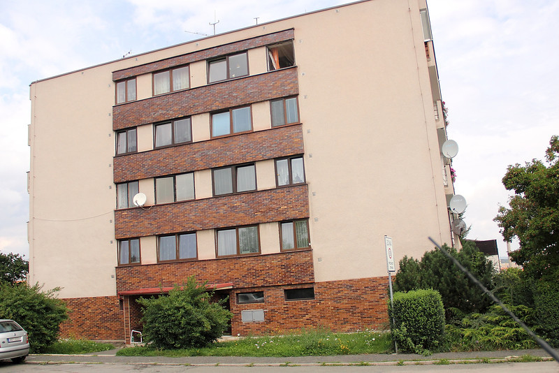 The apartment building where Radek's mom lives in Vlasim, a town about 45 minutes outside of Prague.