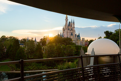 Sunset over Cinderella's Castle