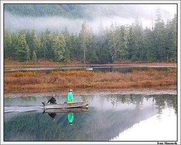 """FISHING AT PAT`S LAKE"", Wrangell, Alaska, USA.-----""RYBARENI V JEZERU PAT`S""."