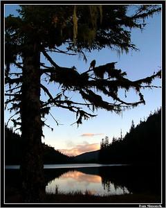 """""""A LONG LAKE SUNSET"""", Wrangell, Alaska, USA.-----""""ZAPAD SLUNCE U JEZERA LONG""""."""