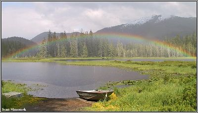 """PAT`S LAKE"", Wrangell, Alaska, USA, June2,04.-----""JEZERO PAT`S"", Wrangell, Aljaska, USA, 2.cervna 04."