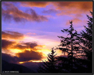 """WRANGELL SUNSET"", Alaska, USA."