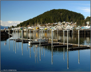 """HARBOR RECONSTRUCTION"", Wrangell, Alaska, USA."