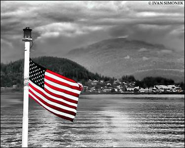 """BYE WRANGELL"",Alaska Marine Highway,Alaska,USA."