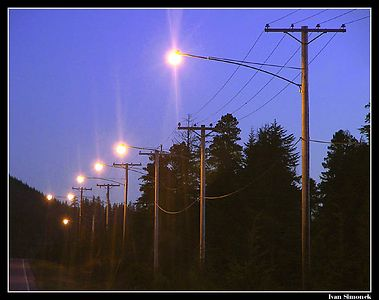"""AIRPORT ROAD"", Wrangell, Alaska,USA.-----""SILNICE NA LETISTE"", Wrangell, Aljaska,USA."