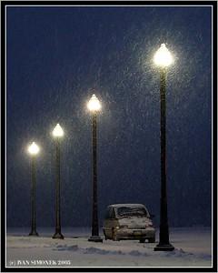 """A WINTER NIGHT"", Wrangell, Alaska, USA-----""ZIMNI NOC""."