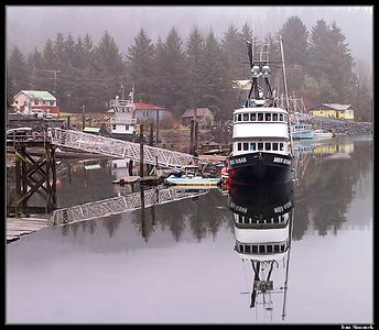 """""""F/V MISS SUSAN AT REST"""", Wrangell, Alaska,USA.-----""""F/V MISS SUSAN ODPOCIVA"""", Wrangell, Aljaska,USA."""