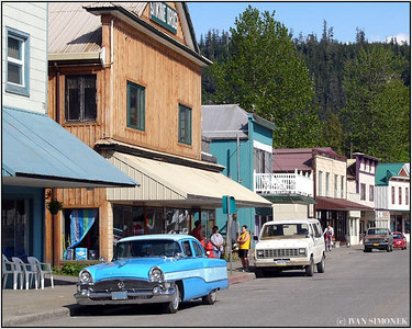 """DOWNTOWN WRANGELL"". Alaska, USA."