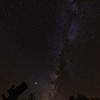 View of the Milky Way, with Jupiter and Saturn from the front yard of our cabin, Fort Davis, TX