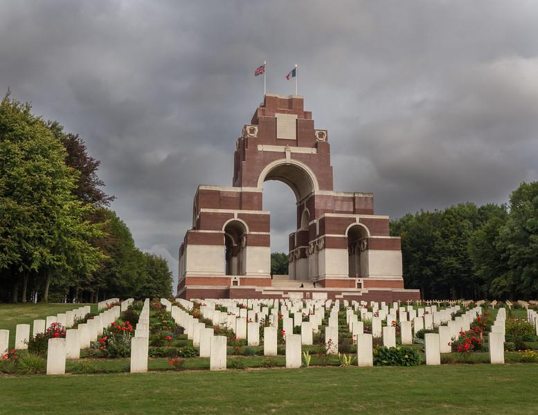Thiepval WWI cemetery