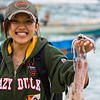 sally caught a squid while boating to perhentian :P
