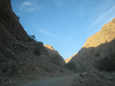 Sunset in the wadi.