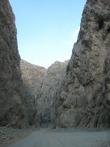 The narrowest point in the wadi