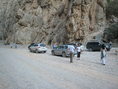In the wadi, the river bed is the road.