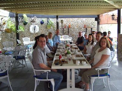 Coffee break at the Hatta Fort hotel