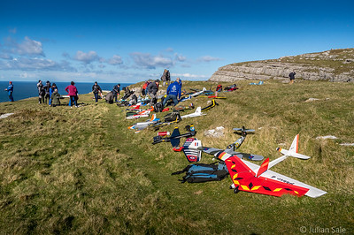 Amazing model planes taking advantage of the cliff up drafts at Llandudno