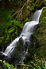 A waterfall behind the George Borrow Hotel in Ponterwyd, Wales