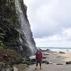 waterfall at Druidston Beach