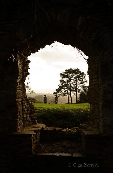 <p>Window View. Usk Castle, Usk, Wales, UK</p>