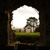 <p>Window View. Usk Castle, Usk, Wales, UK</p>