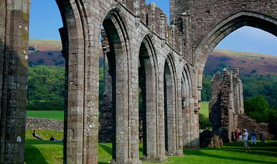 Wales: ruins and books.