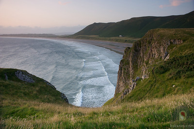 walk to Worms head Rhossili - Gower - South Wales : UK