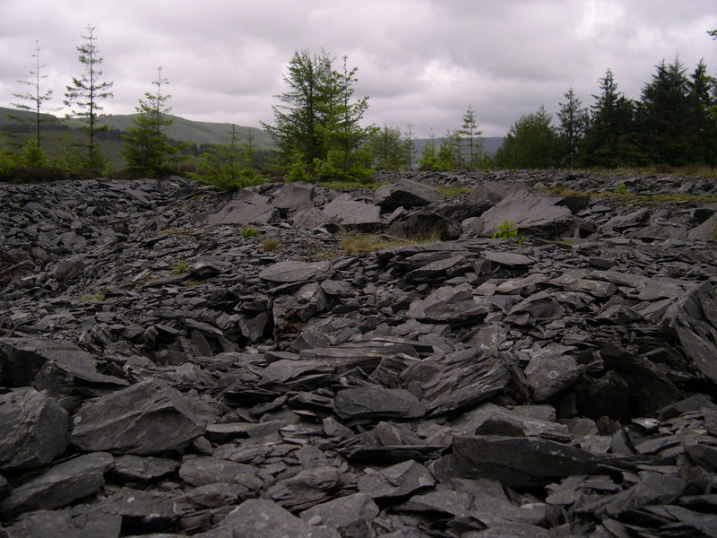 Slate, and lots of it. Snowdonia National Park, Wales