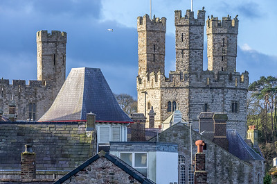 Caernarfon Castle - view from the Landmark Trust Bath Tower where we were staying.