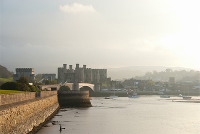 Conwy River, castle and town