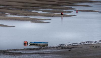 Sand flats at Conway Castle just past Llandudno peninsula.