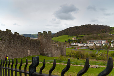 Conwy town wall, upper gate to tower 15