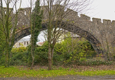 Railway arch, Conwy town wall